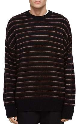 AllSaints Bretley Striped Crewneck Sweater