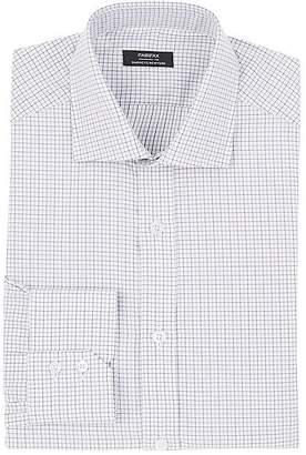 Fairfax Men's Grid-Pattern Cotton Poplin Dress Shirt