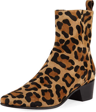 Pierre Hardy Reno Leopard-Print Suede Ankle Boot