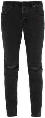 Neuw Iggy Distressed Skinny Fit Jeans - Mens - Black