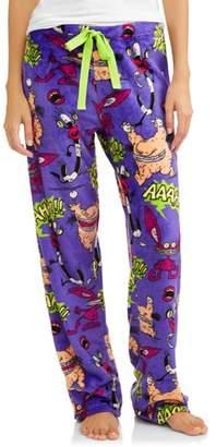 Nickelodeon REWIND Monsters Women's and Women's Plus Superminky Fleece Pajama Pant
