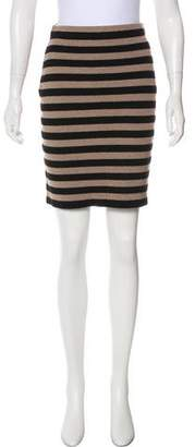 Sonia Rykiel Sonia by Striped Wool Skirt