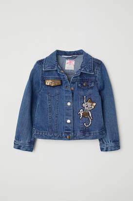 H&M Sequined Denim Jacket - Blue