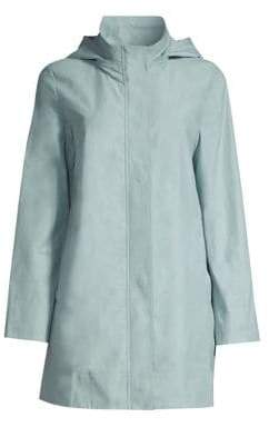 Eileen Fisher Stand Collar A-Line Jacket