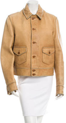 Polo Ralph Lauren Distressed Leather Jacket w/ Tags $595 thestylecure.com