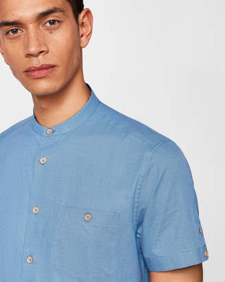 Ted Baker GONKY Grandad collar cotton shirt