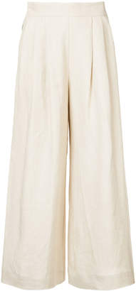 Mara Hoffman buttoned side flared trousers