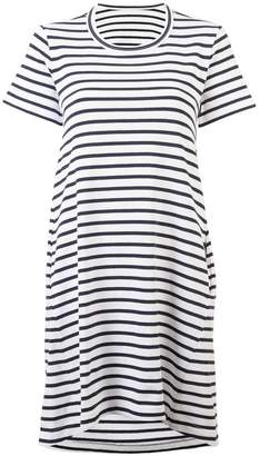 Sacai striped open-back T-shirt dress