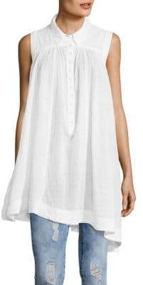 Free People Young Spirit Collared Top
