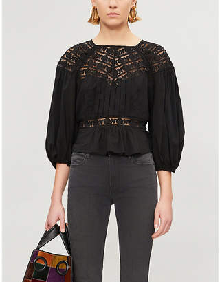 Free People Sweet Mornings woven and lace top