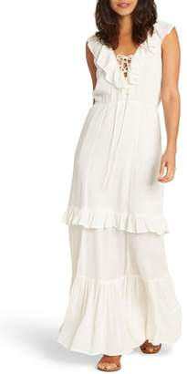 Billabong Romance Row Ruffle Tier Maxi Dress