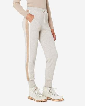 N.Peal Striped Cashmere Trousers