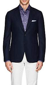 Isaia Men's Cortina Wool Hopsack Two-Button Sportcoat - Navy