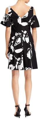 Free Shipping $150+ at Bloomingdale\u0027s · Lauren Ralph Lauren Petites Floral  Sateen Cold-Shoulder Dress