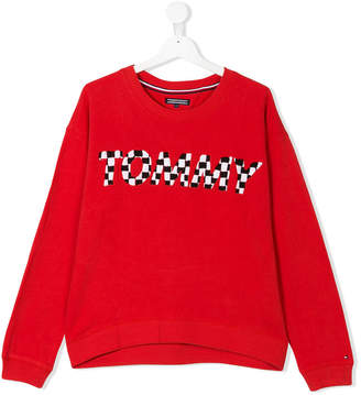 Tommy Hilfiger Junior TEEN embroidered brand sweatshirt