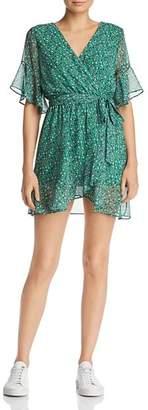 Sadie & Sage Ditsy Floral Faux-Wrap Mini Dress