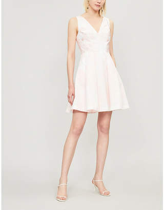 Ted Baker Leianna embroidered woven mini dress