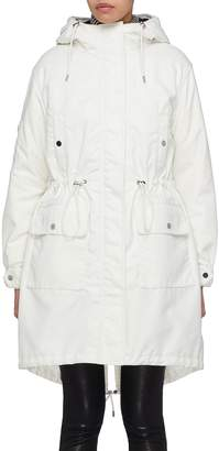 Theory Detachable down puffer jacket hooded parka