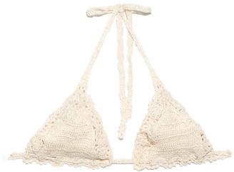 ANNA KOSTUROVA Bella crochet bikini top $120 thestylecure.com