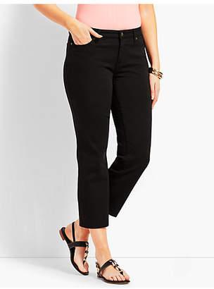 Talbots Black Denim Straight Leg Crop - Curvy Fit