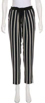 Mason Striped High-Rise Pants