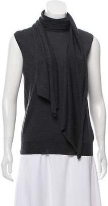 Hermes Sleeveless Draped Knit Top