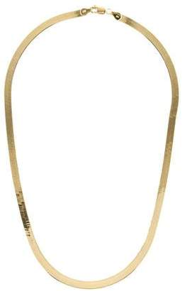 14K Herringbone Flat Chain Necklace