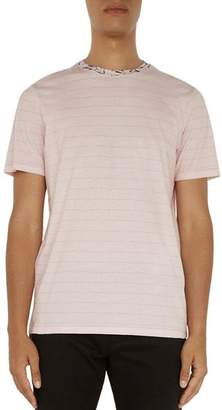 Ted Baker Kandy Floral Print Collar Striped Tee