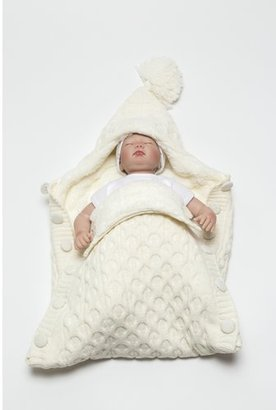 Nipperland Softy Knitted Wool Blended Baby Sleep Wrap/Bag with Button $69.99 thestylecure.com