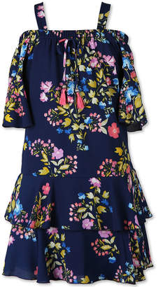 Speechless Elbow Sleeve Flutter Sleeve Fit & Flare Dress - Big Kid Girls