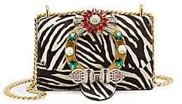 Miu Miu Women's Cavallino Calf Hair & Leather Embellished Crossbody Bag