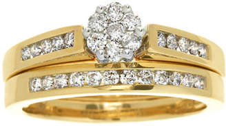 Zales Previously Owned - 1/2 CT. T.W. Composite Diamond Bridal Set in 10K Gold