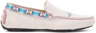 Donald J Pliner TREVISOSP, Cheyenne Embroidered Kid Suede Driving Loafer