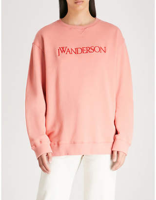 J.W.Anderson Logo-embroidered cotton-jersey sweatshirt