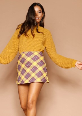 d46e9c5b20 Missy Empire Missyempire Judith Mustard Check Mini Skirt