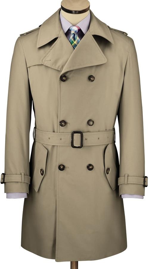 Charles Tyrwhitt Stone trench coat