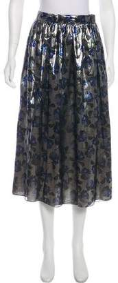 Mother of Pearl Silk Floral Skirt