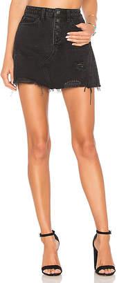 Free People Denim A-Line Skirt.