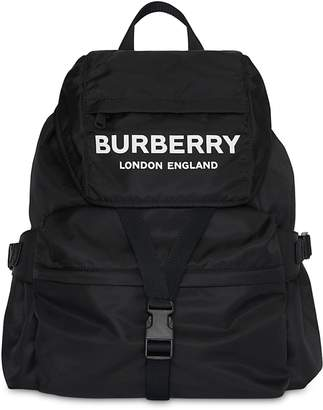 Burberry Large Wilfin Printed Logo Nylon Backpack
