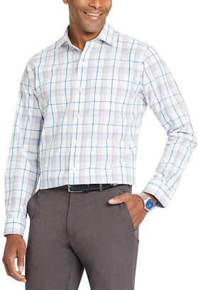 Van Heusen Long Sleeve Plaid Button-Front Shirt