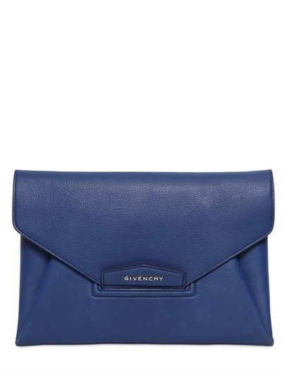 Givenchy Antigona Grained Leather Clutch