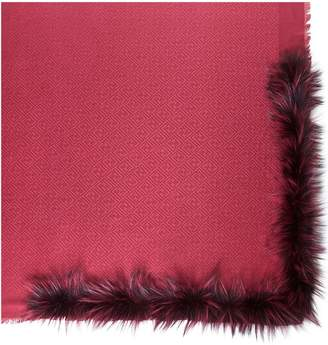 Fendi fox fur trimmed scarf