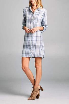 Paper Crane Plaid Tunic Dress