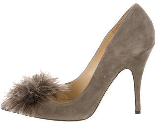 Kate SpadeKate Spade New York Suede Feather-Accented Pumps