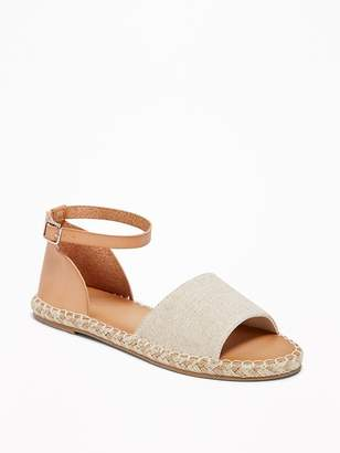 Old Navy Canvas/Faux-Leather Espadrille Sandals for Women