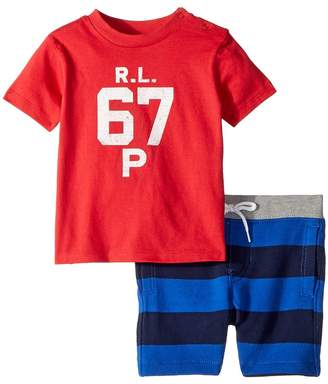 Ralph Lauren Cotton T-Shirt Shorts Set Boy's Active Sets