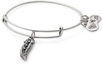 Alex and Ani Feather Adjustable Wire Bangle