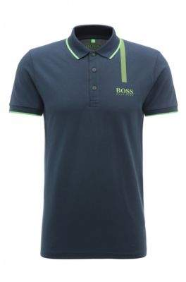 BOSS Hugo Cotton Graphic Polo, Slim Fit Paule Pro XL Dark Blue