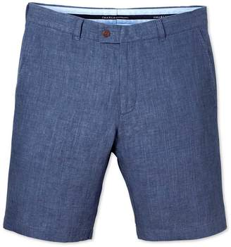 Blue Slim Fit Linen Shorts Size 40 by Charles Tyrwhitt