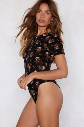 Nasty Gal Floral or Less Tee Bodysuit